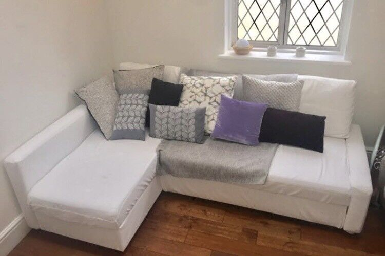 White Ikea Friheten Sofa Bed Good Condition Can Deliver