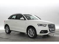 2014 (14 Reg) Audi Q3 2.0 TDi Quattro S-Line S-Tronic White DIESEL AUTOMATIC
