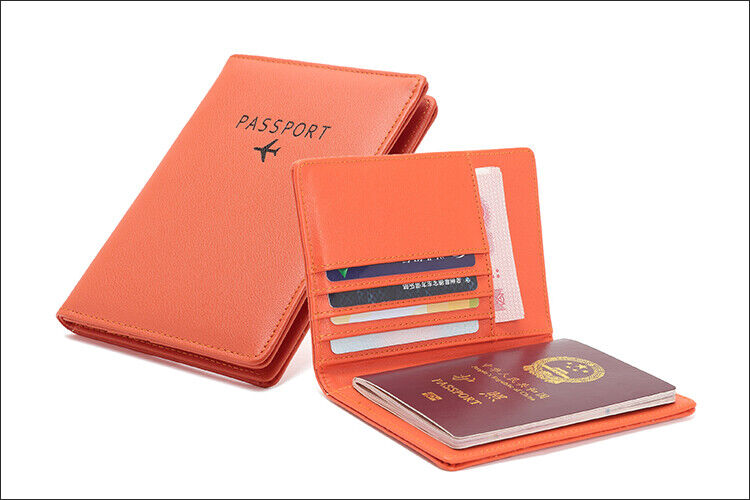 Travel Passport Holder Wallet Holder RFID Blocking Vegan Leather Card Case Cover Clothing, Shoes & Accessories