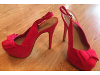New Look Pink High Heels Size 5