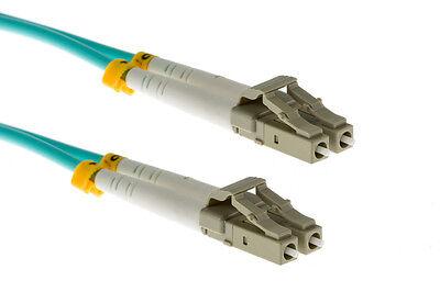 Duplex Multimode Pvc 1 Meter - 1 Meter LC-LC 50/125 OM3 Duplex Multimode PVC Fiber Optic Cable