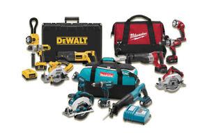 Achetons et Vendons les outils / Makita / Dewalt / Milwaukee