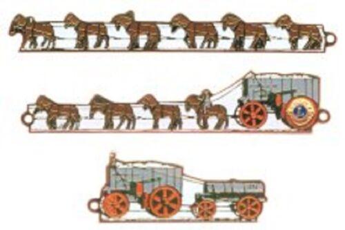 Lions Club Pins - Nevada 1979 Borax 20 Mule Team Set
