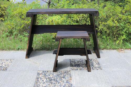 PAULOWNIA WOOD GUQIN TABLE/STOOL SET -- 燒桐木古琴桌椅套裝