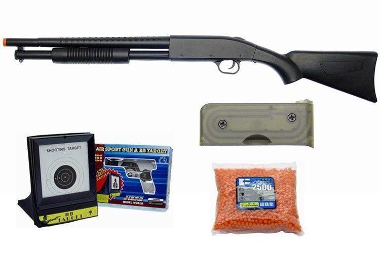 AGM Pump Action Air Soft Shotgun Package