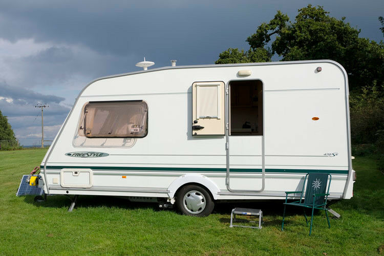 Pretty 2 berth Abbey Freestyle Caravan with Motor Mover