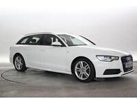 2014 (14 Reg) Audi A6 2.0 TDi 190 Ultra S-Line Avant S-Tronic White ESTATE DIESE