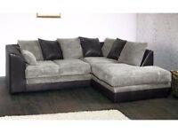 **14-DAY MONEY BACK GUARANTEE!* Benson Jumbo Cord Corner Sofa or 3 and 2 Sofa Set SAME DAY DELIVERY