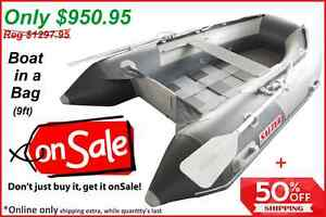 Salter Boat in a Bag, and Tohatsu 4HP motor 'NEW' $2750 no tax