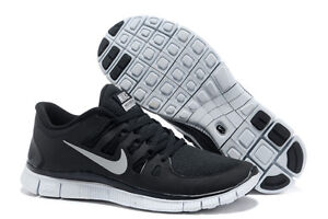 Authentic Nike Free 5.0 Black Grey Mens Running Shoes