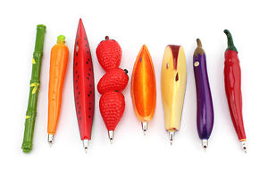 Trendy Fruit Vegetable Animals and Insects Shaped Pen Refrigerator Magnet ESUK