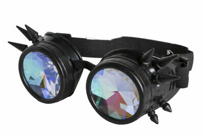 STEAMPUNK KALEIDOSCOPE GLASSES – PSYCHEDELIC-3 Colors (Cool Colored Glasses)