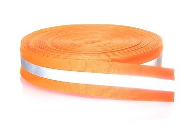 20m Silver Reflective Tape Strip Sew-on Lime Orange Fabric Safty Vest Width 2