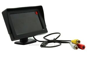 4-3-HD-resolution-In-car-Use-TFT-LCD-Camera-Monitor-Display-2-Video-AV-CH-Input