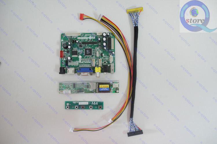 HDMI+AV+VGA LCD Controller Board Inverter Monitor Kit for LTD133EX2X 1280X800