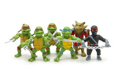 Ninja Turtles Teenage Mutant Birthday Cake Topper (Set Of 6pc) - Ninja Turtle Cake Topper