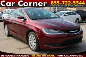 2016 Chrysler 200 LX /LOW KMS/FACTORY WARRANTY/EFFICIENT/MORE!