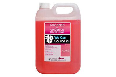 Rosa y Jengibre Líquido Lavado Manos Jabón 5 Litre Galón Lote Relleno Para