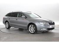2013 (13 Reg) Skoda Superb 2.0 TDi 170 Elegance DSG Met Grey ESTATE DIESEL AUTOM