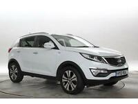 2013 (13 Reg) KIA Sportage 2.0 CRDi KX-3 White DIESEL AUTOMATIC