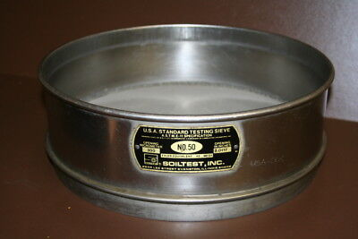 Sieve Astm Usa Standard No 50 Ss 12 Inch Soiltest