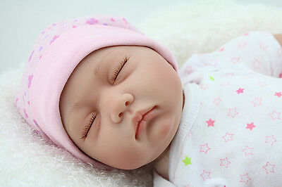 LIFELIKE NEWBORN BABY REALISTIC REBORN BABY GIRL DOLL MAGNET DUMMY +CLOTHES GIFT