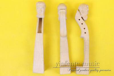 1X Maple Violin Neck 4/4 Hand-Carved Violin Parts/Accessories Yinfente 1 Violin Part