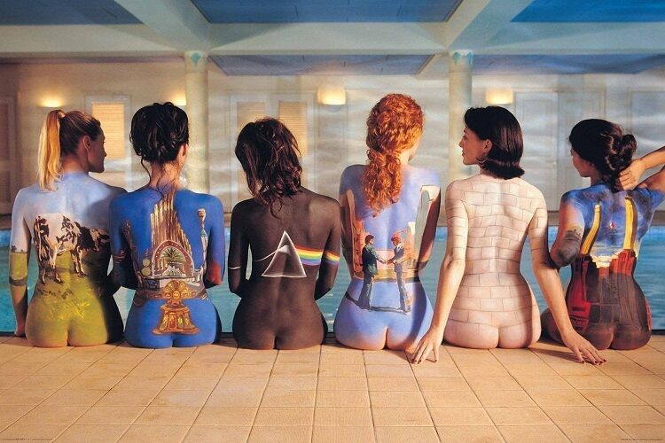 PINK FLOYD ALBUM COVERS ON GIRLS BACKS POSTER (Size 36x24)