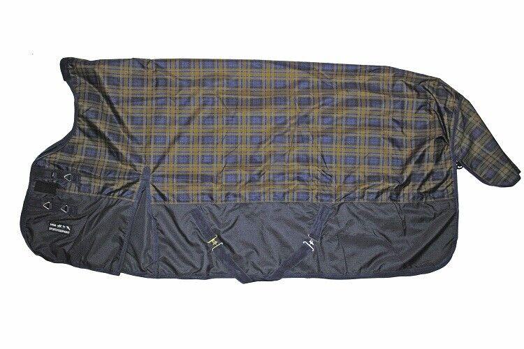 HKM Weidedecke HIGHNECK DEEP BLUE 115-125-135-145-155-165 Regendecke mit Fleece