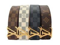 **BRAND NEW LOUIS VUITTON -STAMPED-LEATHER BELT** £25 2 for £45 (Special Offer)