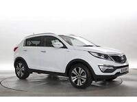 2013 (13 Reg) KIA Sportage 2.0 CRDi KX-4 White DIESEL AUTOMATIC