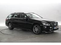 2014 (14 Reg) Mercedes E220 2.2 CDi AMG Sport Obsidian Black ESTATE DIESEL AUTOM