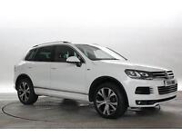 2014 (14 Reg) Volkswagen Touareg 3.0 TDi 245 BlueMotion Tech R Line DSG Pure Whi
