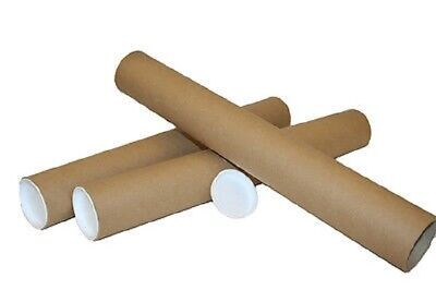 10x A1 Cardboard Postal Tubes~45mm~End Caps Round Mailing Packing Tube