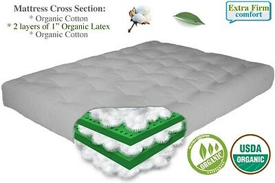 The Futon 8 Natural Latex And Organic