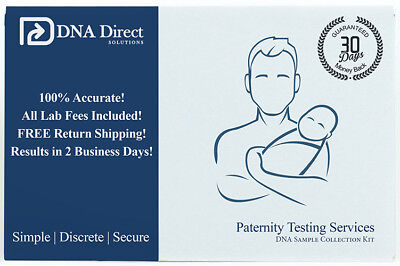 Dna Direct Duo Paternity Test   Includes Kit  Lab Fees   2 Day Results