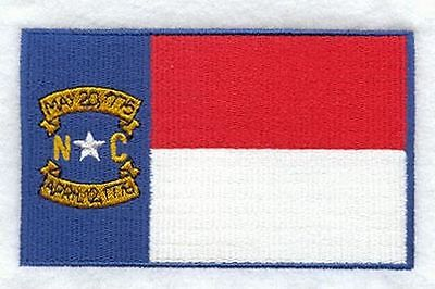 """North Carolina State Flag Embroidered Patch 3.3"""" x 2"""""""