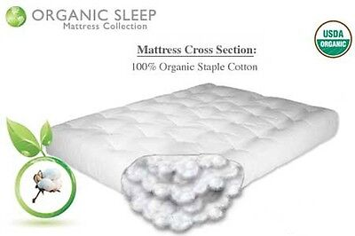 "THE FUTON SHOP 8"" FIRM AND SUPPORTIVE ORGANIC COTTON MATTRESS"