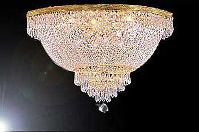 - French Empire Crystal Semi Flush Chandelier Chandeliers Lighting H18