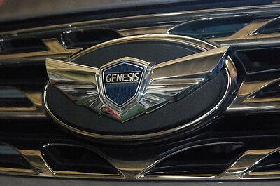 Front Grille Bonnet Matte Black H Logo Emblem Badge Garnish 1P for HYUNDAI Car