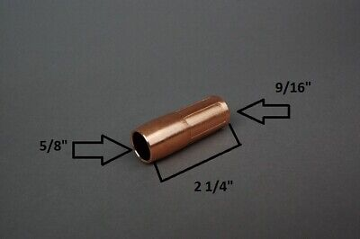 3 Htp Replacement Gas Nozzles For Lincoln Magnum 100sg Spool Gun For Aluminum
