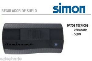 Regulador de suelo simon 500w para lampara dimmer - Regulador intensidad luz ...