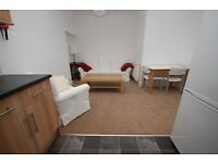 STUDENTS 17/18: Superb top floor 3 bed flat with broadband available August - NO FEES!