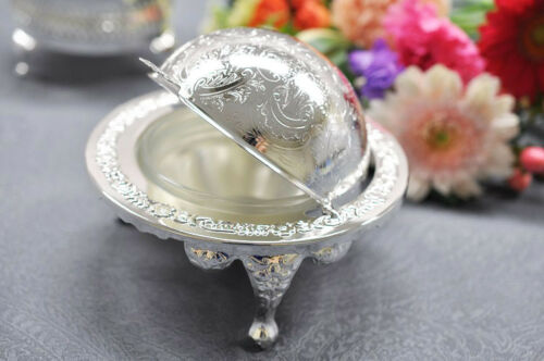Vintage Silver Plated Revolving Caviar Dish- Gift - SALE