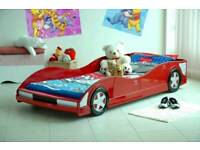 Kids racing car single bed frame.