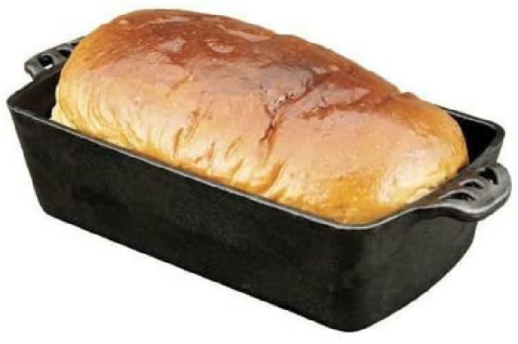 Home Seasoned Cast Iron Bread Pan