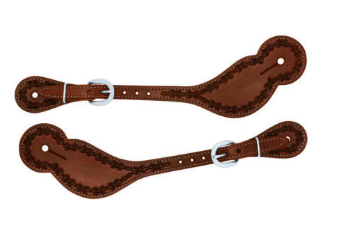 Weaver Leather Barbed Wire Reg. Spur Straps, Stainless Steel Hardware, 30-1049