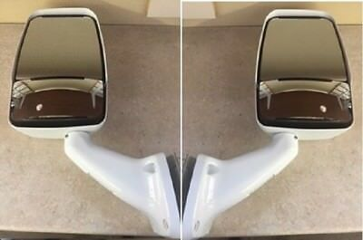 Velvac RV Motorhome White Mirror Set - Class A W/ Wire Kit & Switch 713803