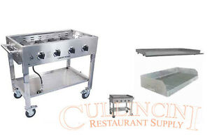Portable Commercial  Griddle with bonus option Stainless Char broiler LP Propane