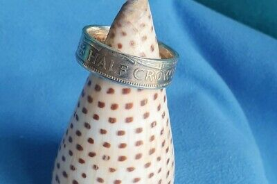 Coin Ring British Half Crown 1961 Double Sided Very Large Size Z+ Vintage